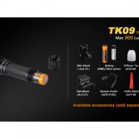 Lanterna Fenix TK09 - Editie 2016 - 900 lumeni 310 metri accesorii