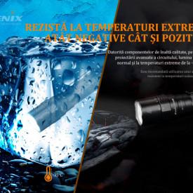 Lanterna Tactica Reincarcabila Fenix PD36R 3000 Lumeni 405 Metri temperaturi
