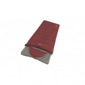 Sac de dormit reversibil Outwell Contour Lux - Red - Fermoar Dreapta