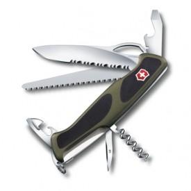Briceag Victorinox RangerGrip 179 One Hand, negru/verde - 0.9563.MWC4