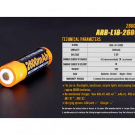Acumulator 18650 - 2600mAh Cu Micro USB - ARB-L 18-2600U 6