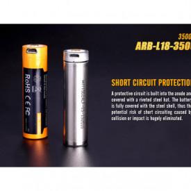 Acumulator 18650 - 3500mAh cu Micro USB - ARB-L 18-3500U 5