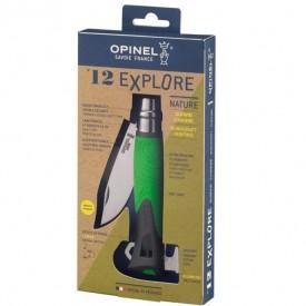 Briceag Opinel Nr.12 Inox Outdoor Explore Green, lama 10cm - 001899