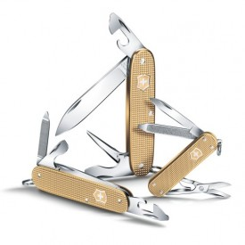 Briceag Victorinox Pioneer Alox, Champagne Gold - 0.8201.L19 - Limited Edition 2019