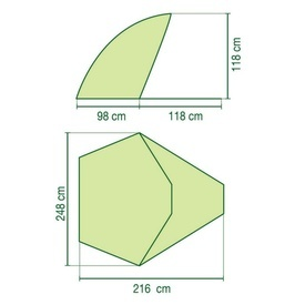 Cort cu protectie solara Sundome Coleman verde/gri - 205121