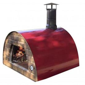 Cuptor traditional pentru pizza pe lemne Maximus rosu - MAXIMUSRED