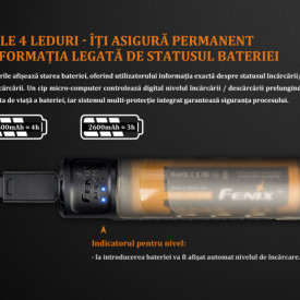 Kit Incarcator Fenix ARE-X11 + Acumulator 18650 3500mAh 4