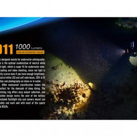 Lanterna Fenix SD11 - Scufundari - 1000 lumeni 45 metri 3