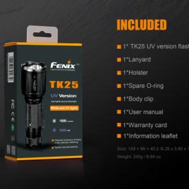 Lanterna Fenix TK25 - Versiune UV - 1000 lumeni 225 metri cutie