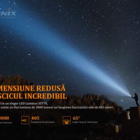 Lanterna Tactica Reincarcabila Fenix PD36R 3000 Lumeni 405 Metri fascicul