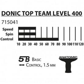 Paleta tenis de masa Donic-Schildkröt - Top Team 400 - 715041