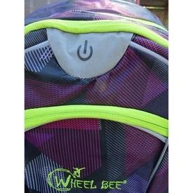 Rucsac Wheel Bee Night Vision mov cu LED