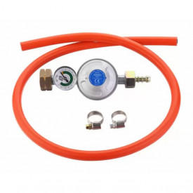 Set regulator de presiune gaz cu manometru si furtun 85 cm Cadac 30mBar Overflow - 8510-OF