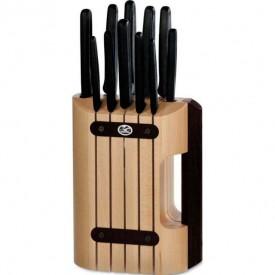 Set Victorinox pentru Bucatarie, 11 piese, suport lemn - 5.1153.11