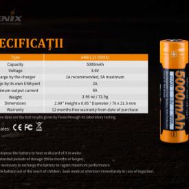 Acumulator 21700 - 5000mAh - Acumulator USB Type-C - ARB-L 21-5000U 8