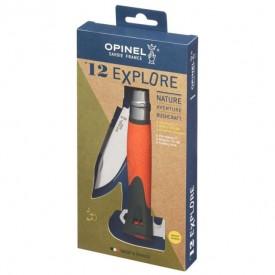 Briceag Opinel Nr.12 Inox Outdoor Explore Portocaliu, lama 10cm - 001974