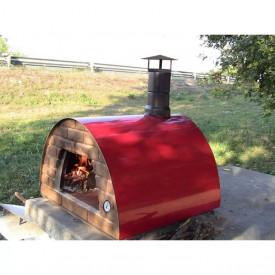Cuptor traditional pentru pizza pe lemne Maximus rosu - MAXIMUSRED 2