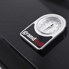 Gratar pe gaz cu 3 arzatoare din inox, incastrabil, gratare din fonta, Grand Hall Premium GT3 -  K03000196A termometru
