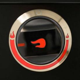 Gratar pe gaz din inox Char-Broil Professional 4500 Black Edition TRU-Infrared - 140909 buton