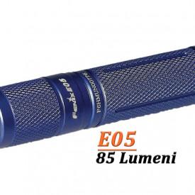 Lanterna Fenix E05 85 lumeni albastru