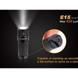 Lanterna Fenix E15 - Editie 2016 - 450 lumeni stativ