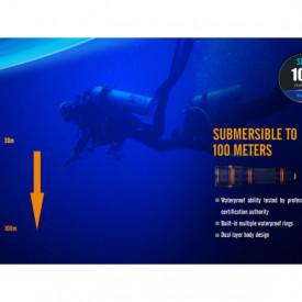 Lanterna Fenix SD11 - Scufundari - 1000 lumeni 45 metri 4