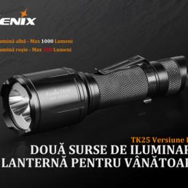 Lanterna Fenix TK25 - Versiune Red - 1000 Lumeni 225 Metri 1