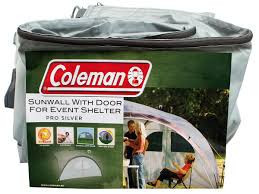 Perete cu usa pentru cort de evenimente pavilion PRO SILVER Coleman 4.5mx4.5m - 2000016840