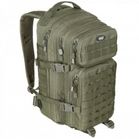 Rucsac modular Assault, 30 litri, multiple buzunare, compatibil sistem hidratare, verde MFH - OUTMA.30333B