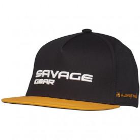 Sapca Savage Gear Flat Peak 3D Logo Black Ink - A8.SG.73713