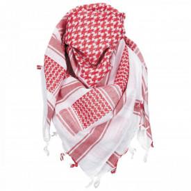 Shemagh alb rosu esarfa arab, 115 x 110 cm, 100% bumbac MFH - OUTMA.16503i