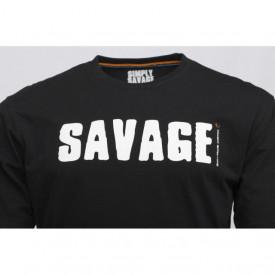 Tricou Savage Gear Simply Black Logo Tee