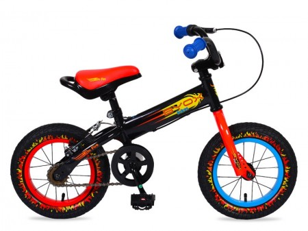 Poze Bicicleta Copii Moni Balance 2 In 1 On Fire