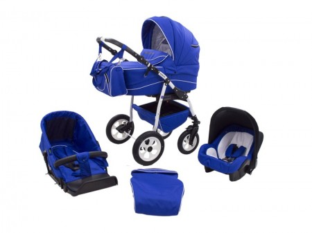 Poze Carucior copii 3 in 1 MyKids Germany Blue Regal