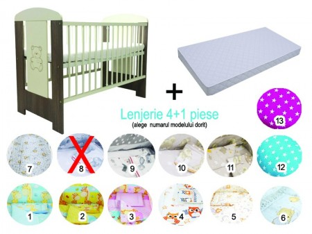 Pachet 3 in 1 Patut Sweet Bear 120x60