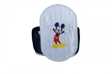Cutie Hainute Botez din satin,Brodata cu Mickey Mouse