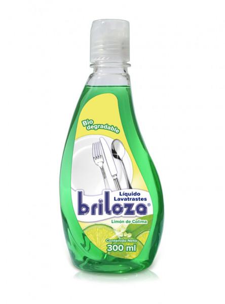 Briloza lavatrastes líquido / Caja con 10 botellas de 300 ml