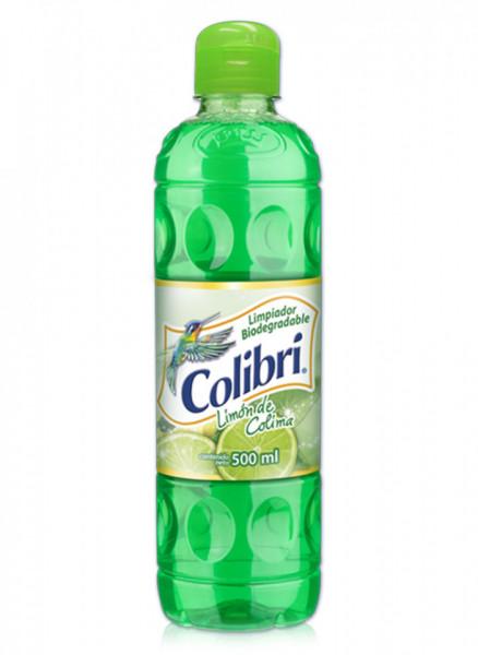 Colibrí limpiador líquido / Caja con 24 botellas de 500 ml / Aroma Limón de Colima.