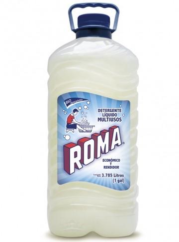 Roma detergente líquido / Charola con 4 botellas de 1 Galón imágenes