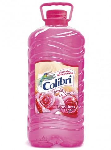 Colibrí limpiador líquido / Charola con 4 botellas de 1 Galón / Aroma Jardín de Rosas. imágenes