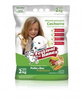 Festival de Kanes alimento para perro Cachorro / Paquete de 5 bolsas de 2 kg