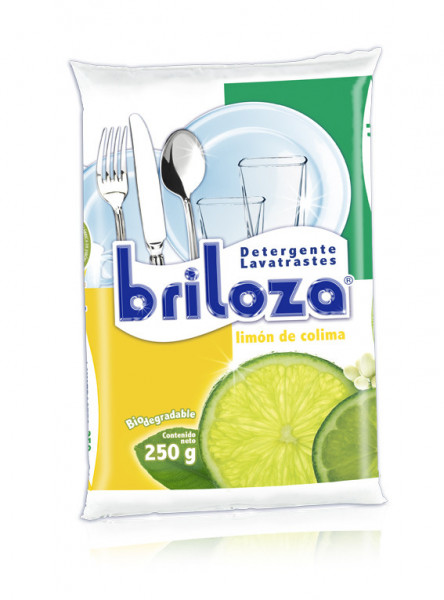 Briloza lavatrastes en polvo / Caja con 20 bolsas de 250 g