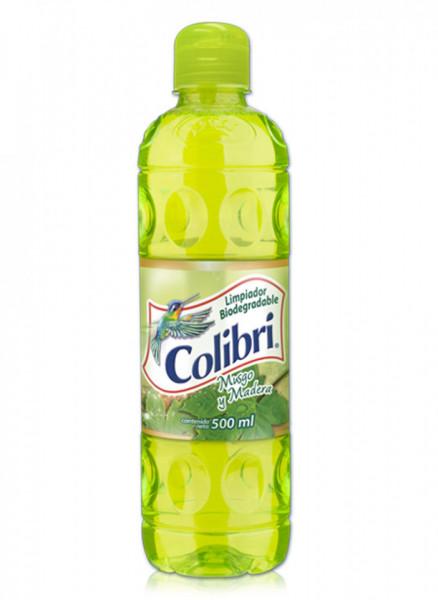 Colibrí limpiador líquido / Caja con 24 botellas de 500 ml / Aroma Musgo y Madera.