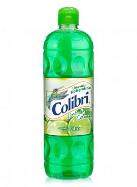 Colibrí limpiador líquido / Caja con 12 botellas de 1 Litro / Aroma Limón de Colima.