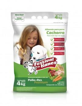 Festival de Kanes alimento para perro Cachorro / Paquete de 4 bolsas de 4 kg