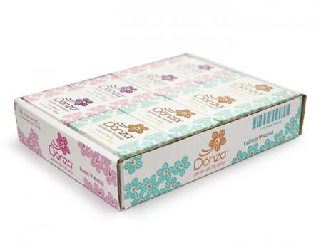 Jabón de tocador Dönza Surtido / Caja con 16 piezas de 100g