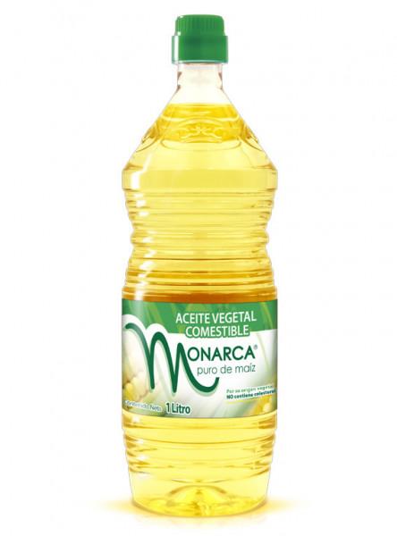 Monarca aceite vegetal comestible / Caja con 12 botellas de 1 Litro