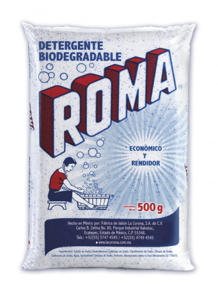 Roma detergente en polvo / Caja con 20 bolsas de 500g