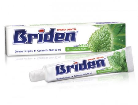Briden crema dental SIN FLÚOR / Caja con 50 piezas de 50 ml