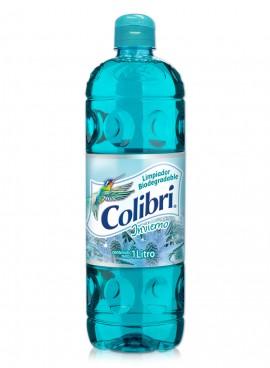 Colibrí limpiador líquido / Caja con 12 botellas de 1 Litro / Aroma Invierno.